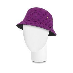 NWT $515 Louis Vuitton purple jean hat